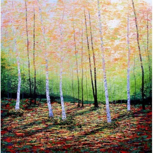 Golden Leaves, Silver Birches